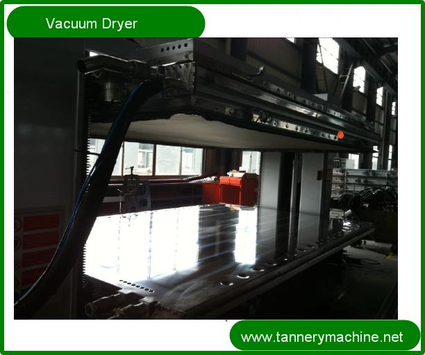 industrial hot water leather vacuum dryer in tannery