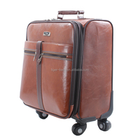 "2015 Alibaba Wholesale Trolley Leather 16"" Laptop Bag"