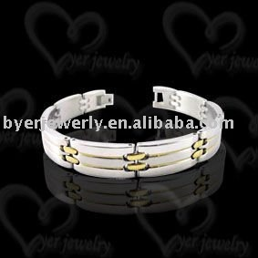 costume jewelry of 316l stainless steel bracelet shining polished
