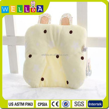 Alibaba Hot sale Cute Flat Head Baby head support Pillow