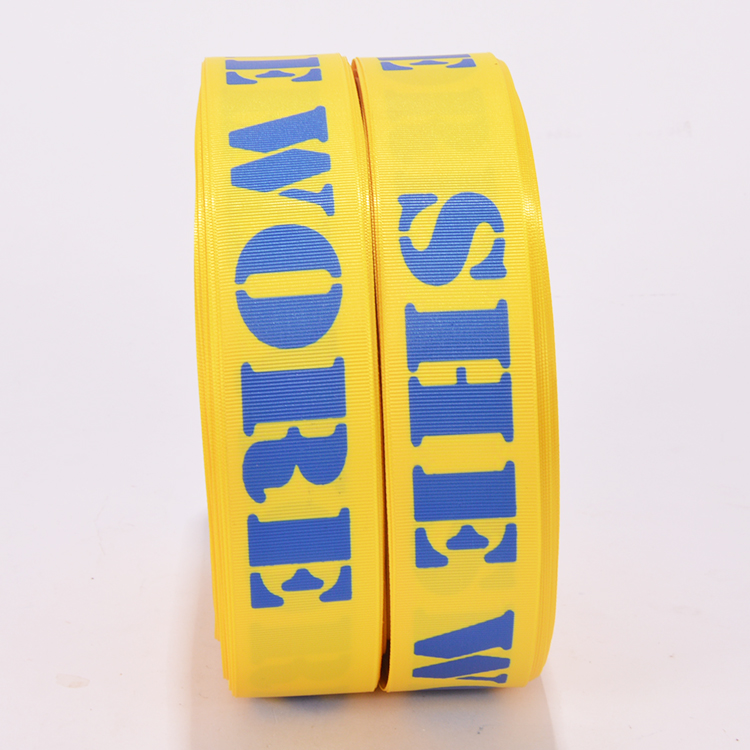 Custom printing 3 inch wide grosgrain ribbon