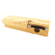 Pine wood sausage tray laguiole kitchen knife