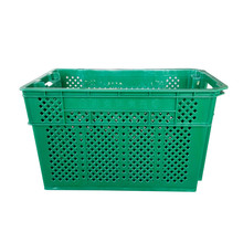 stackable & nestable plastic transportation crates for fruits and vegetables
