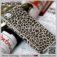 Gold luxury mobile phone metal leather chrome hard protective case