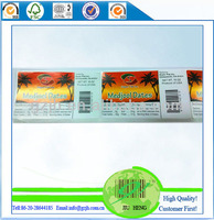 Printed barcode custom label for food containers