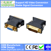 DVI-I (24+5) Male to VGA Female Adapter ( HD Video Conversion ) For PC Projector Monitor Laptop