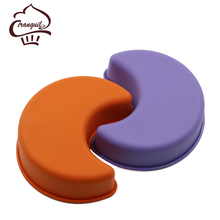 Wholesale Fashionable Moon-shaped Silicone Cake Mould Moon Mould