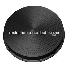 600mm Double Seal Ring FRP Composite manhole covers D400