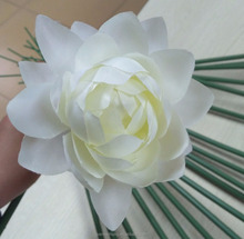 Custom Pink/white Artificial lotus flower with led light