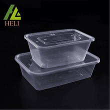 Clear plastic PP food tray for meals