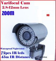 800 tv lines 2.8-12mm varifocal Waterproof ip66 camera cctv hd