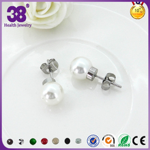 Silver Planted Stainless Steel Balance Body Earrings