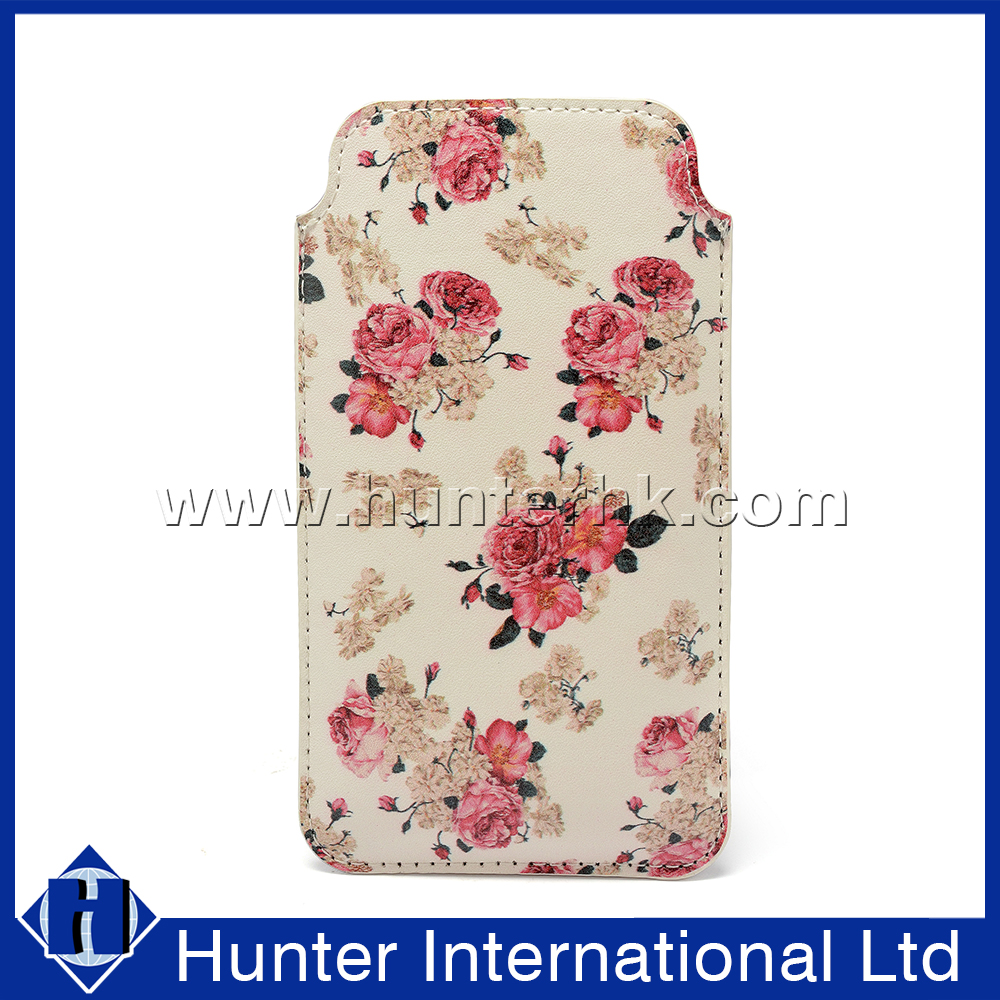 Flower Genuine Leather Clasp For 6G Pull Up Pouch