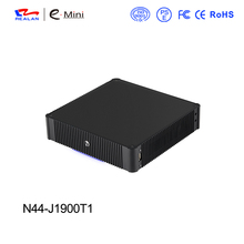 Fanless mini pc 12v mini pc J1900 CPU 4*COM VGA windows xp linux system