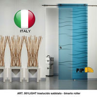 Internal Sliding tempered Glass doors made in Italy brand Fip and Casali