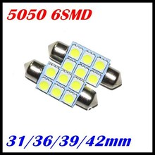 2016 Hottest 12v 36mm/39mm/41mm Festoon led 5050 6smd Canbus Error Free Licence Light Led Car Light