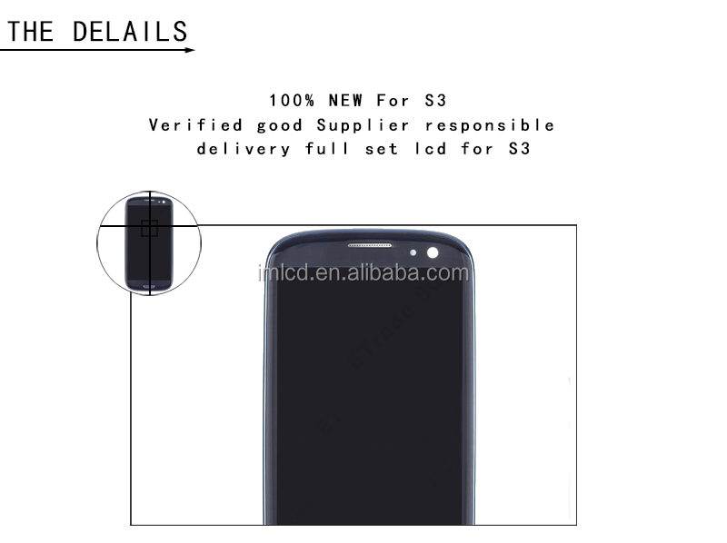 100% original cell phone lcd screen recycling for samsung s3 with 12 months warranty