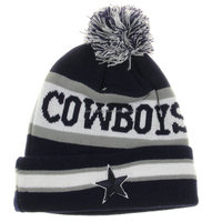 2015 Cowboys Beanie knit hats ON FIELD SIDELINE Pom Pom Sport Knit Beanie Cap Hat