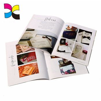 OEM China manufactory full color Printing service high quality customized printing catalogue