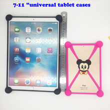 universal silicone rubber tablet case with stand cartoon design