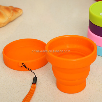 Great material FDA & LFGB cheap silicone collapsible folding cup baking cup baby drinking cups