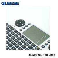 Mini Portable Handheld 2.4GHz Wireless Keyboard with Touchpad 72 Keys QWERTY Multimedia Keyboard for Smart TV
