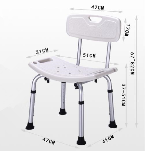 Hot selling mobile elderly shower chair with arm