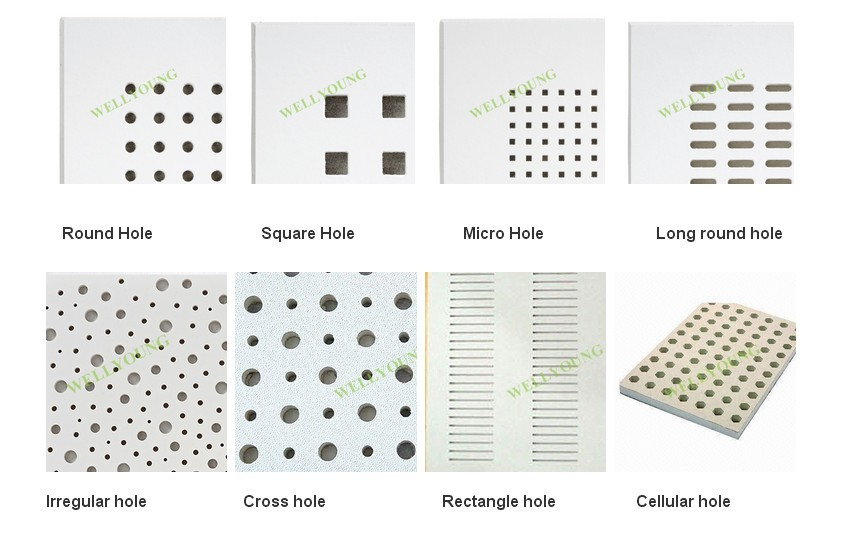 Sound Absorbing Gypsum Board : Sound absorbing paper faced perforated plasterboard buy