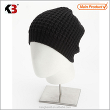2016 New arrival knitted hand made wool hats adult knit hat plastic hat brim inserts