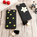 Hot Sale Fashion Cute Stars Tassel Pendant Case For iphone7 Back Cover For iphone 7Plus 6 6S Smile Twinkle Stars Phone Case