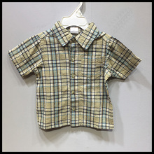plaid T-shirt for 0-3 Years old boy kids clothing