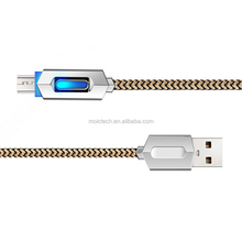 Factory Direct LED IC Fast Charging Data Sync Line with Micro USB for SmartPhone,Tablet and Computer Nylon Braided Cable