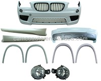 BODY KIT FOR 09-13 E84 X1 (M-TECH LOOK), (FRONT BUMPER+GRILLE (MAT BLACK)+FRONT FENDER TRIM+SIDE SKIRTS +REAR FENDER TRIM+REAR B