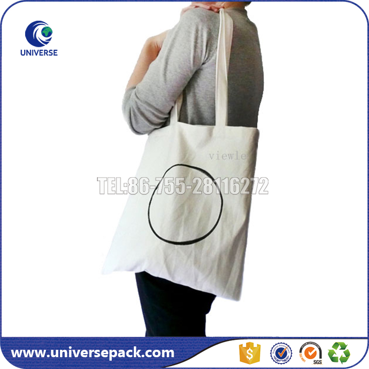 Custom heavy duty cotton canvas shoulder bag with your own logo
