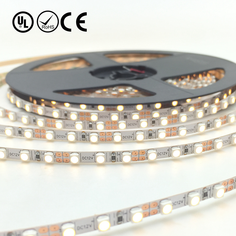 UL Nonwaterproof 12V 2.88W 36LED 288LM Per Foot 16.4FT Roll 80RA CRI Warm White 3000K 3528 SMD flexible LED Strip Ultra Slim