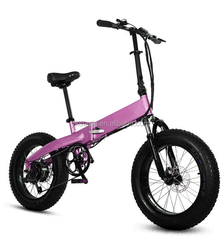 20*4.0 inch 250w 350w 500w folding off road electric bike/fat tire mountain electric bicycle