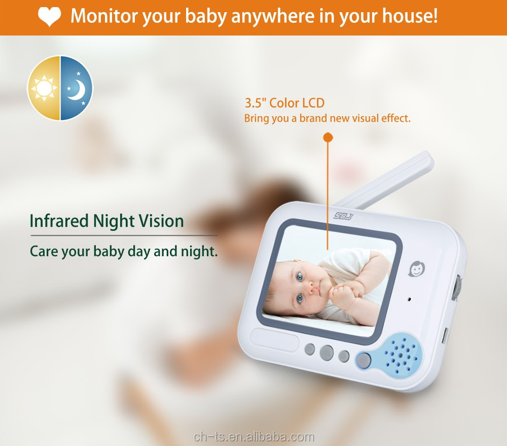 lcd camera monitor wireless infrared camera night vision digital video baby monitor