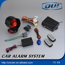 Easy Operation Car Alarm System with Shock Sensor One Way Car Alarm System Anti-theft Security System