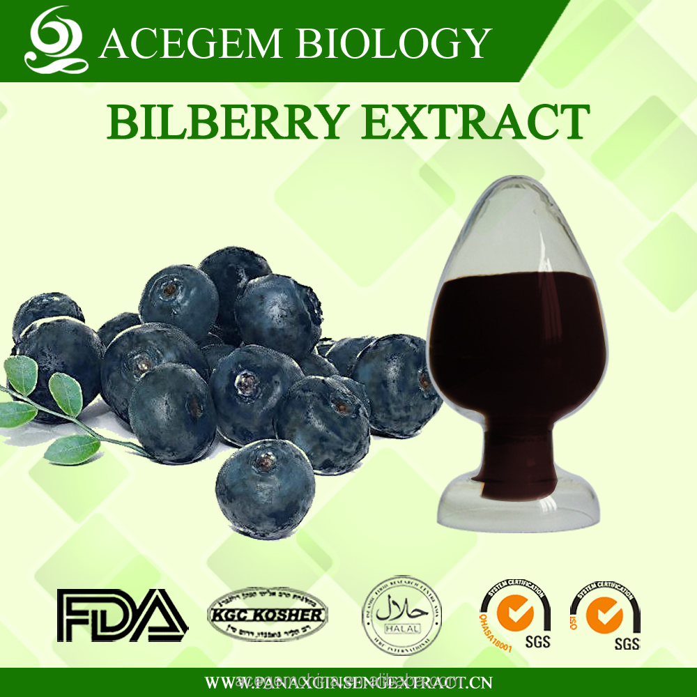 Low Pesticide Residues Bilberry Extract Long Term Use