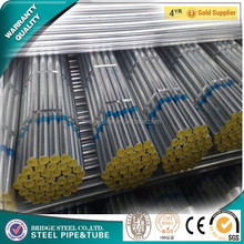best selling carbon galvanized steel pipe with screw and pipe fittings
