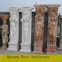 Large Size Marble Building Design Pillar