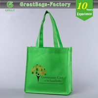 Waterproof Green PP Non Woven Shopping Tote bag(glt-a0316)