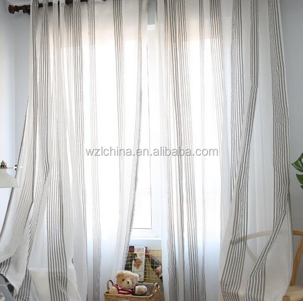 Factory wholesale good quality hot sale 100% polyester fabrics window sheers hotel curtain voiles