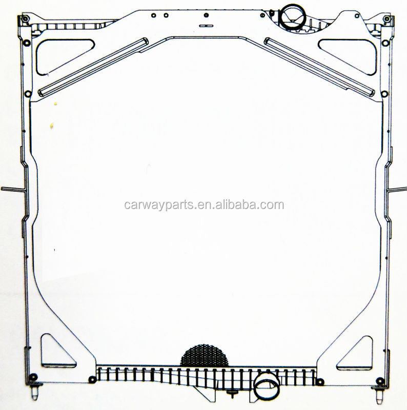 OE#20482259/20516408/20536915/20536948/8500325/8149326 RADIATOR CW-TR0989 FOR VOLVO 02- FH 16