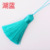 wholesale colorful long loop 8cm polyester silk tassels for garment