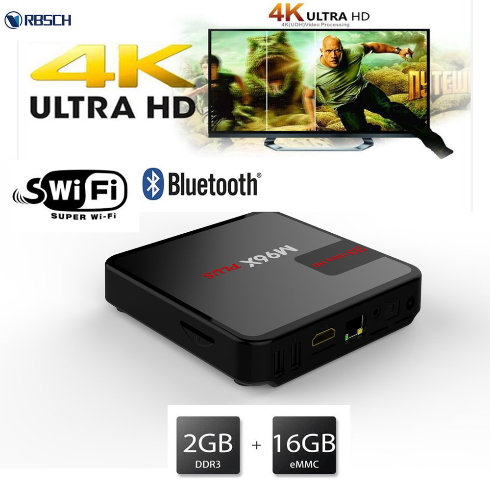 M96x plus 2gb/8gb quad core tv box 4k amlogic s905x arabic English Italy IPTV tv box android tv box channels list