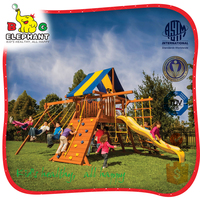 children wooden outdoor playground big slides for sale
