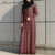 High quality fashion Beauty design lace abaya dark red islamic clothing dubai abaya plus size empire waist jilbab china