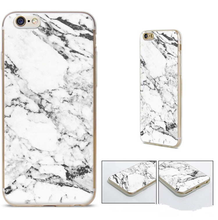 TPU White Marble Custom Printed Mobile Phone Case Cover For iPhone 5s 6 6s Plus