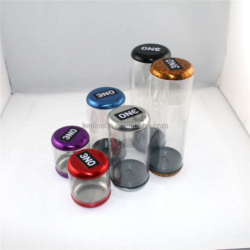 High quality small round condom tin box